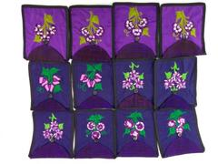 12pc Lot Purple Floral Boho Guatemalan Embroidered Crossbody Bag CONCERNED CRAFT