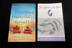 2 Christian Self Help Books For Better or Best Becoming Your Spouses Better Half