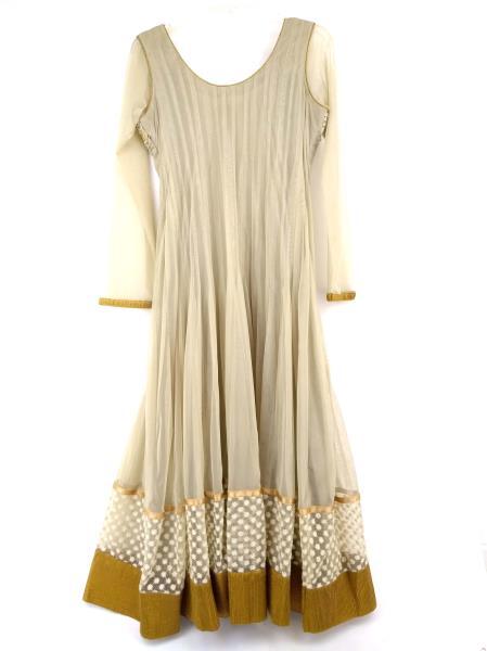 Indian Women's Dress Kurta w/ Embroidery and Rhinestones +Thai Silk Dupatta L