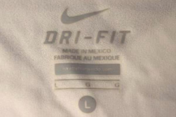 Dri-Fit T-Shirt Nike Logo Ombre Pink Yellow White 100% Polyester Girl's Sz L
