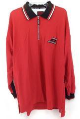 """VtgY2K BOSS by I.G. Design 1/4 Zip Shirt Long Sleeve Red """"Uppercut"""" Mens XL NWT"""