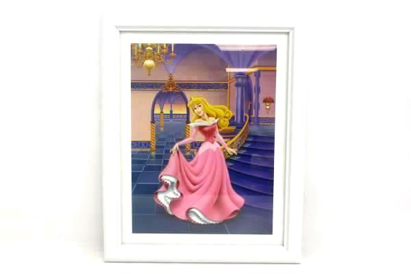 "White Framed Classic Sleeping Beauty Print Walt Disney Ball Room 15.75"" x 12.75"""