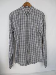 Calvin Klein Men's Extreme Slim Fit Shirt Plaid Black White Purple Size 15 34/35