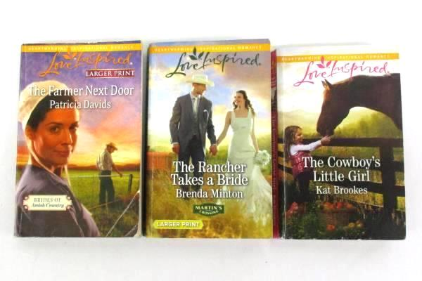 Lot of 3 Harlequin Romance Novels Western, Farm, and Ranch 2011 - 2018