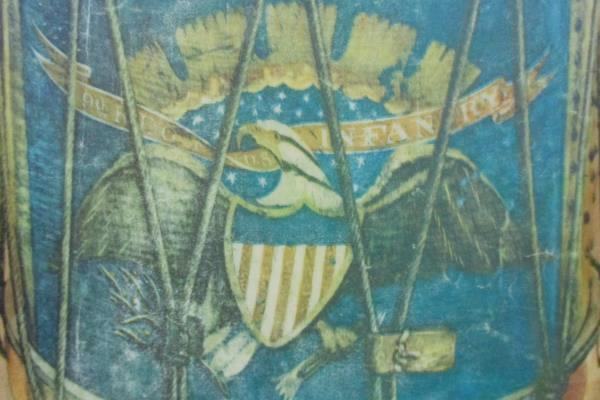 9th Regiment U.S. Infantry Drum Decoupage Wood Wooden Plaque