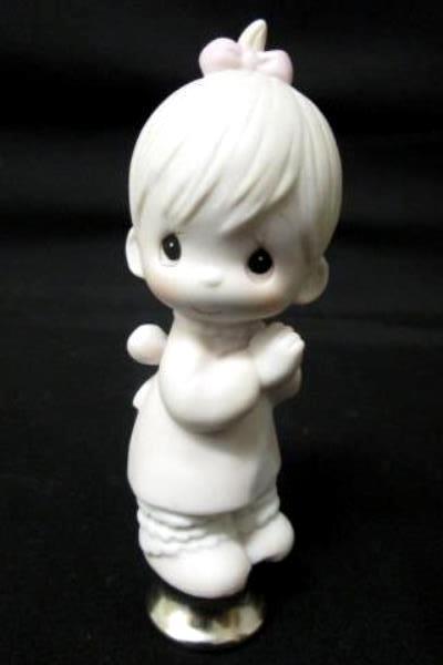 "Precious Moments Series Praying Baby Girl Lamp Finial 4""x1"""