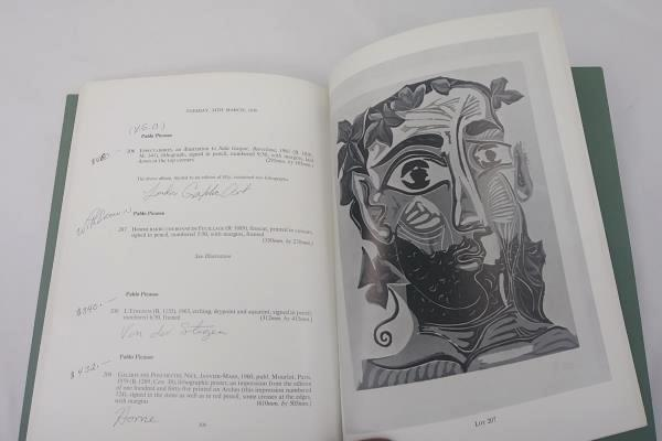 Sotheby & Co. Art Auction Catalog 1970 Picasso, Mattisse, Manet, Chagall, Munch