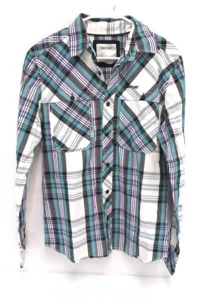 Lot of 2 Women's Shirts Dieforit Western Plaid Button Up Shirt Black T Gap Med
