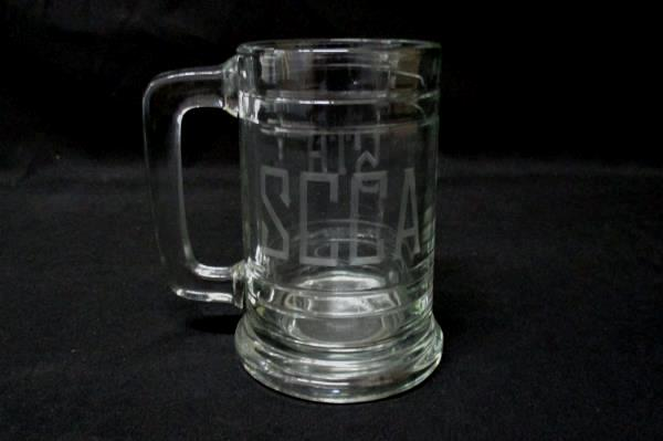 2 Clear Glass Beer Mugs Etched SCCA 5th