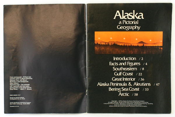 Alaska A Pictorial Geography And A Journey Through Prince William Sound Booklets
