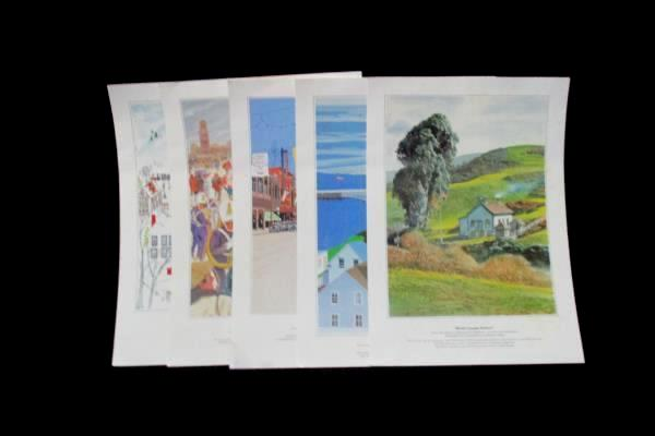 """5 Denny's Americana Collection Prints By Contemporary Artists 16"""" x 11"""""""