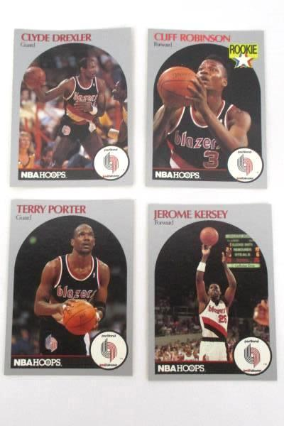 Lot Of 40 Portland Trail Blazer Trading Cards Porter Kersey Dudley Edwards Adelm