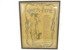 Vintage Framed Nov.1906 Hearth And Home Table Of Contents Page