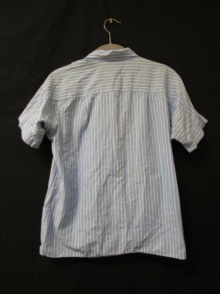 Pinstripe Blouse Nordstrom Blue/White/Pink 100% Cotton Women's Size 8