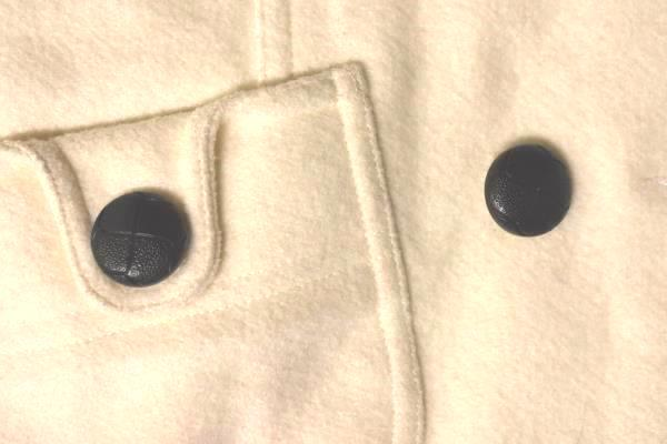 Peacoat XXI Thick Eggshell White Polyester Wool Blend Women's Size Small