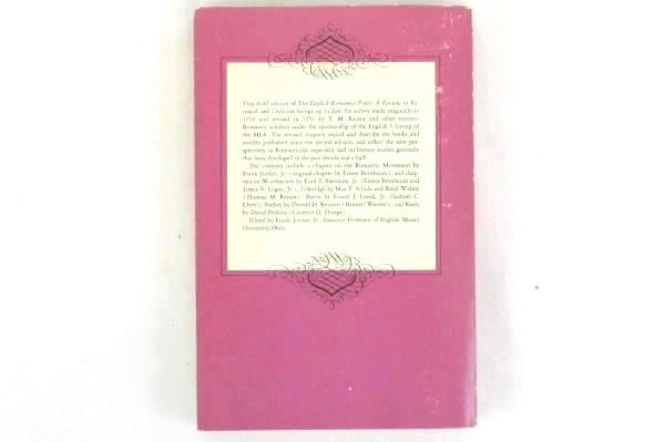 VTG The English Romantic Poets Review of Research Criticism Third Edition 1972