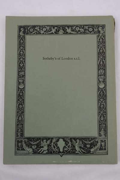 SOTHEBY'S Catalog 19th & 20th Century Italian Paintings Drawings Sculpture, 1969