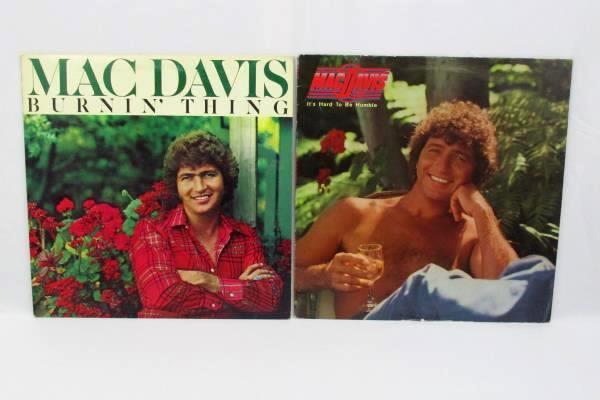 "Lot of 2 Mac Davis 12"" Vinyl 33 RPM LP Records Folk Country"