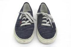 Levi's Men's Canvas Shoes Blue 8.5 Quality Comfort Style Fashion Ten Blue Denim