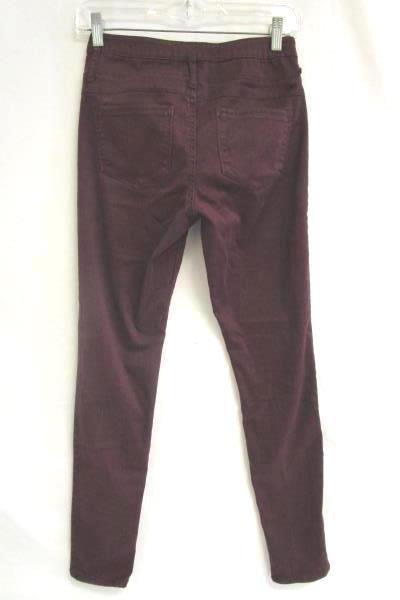 Skinny Jeans No Boundaries Dark Wine Cotton Blend Women's Teen Size 7