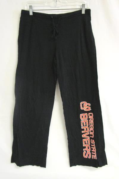"Sleepwear Pants Sideline Apparel Inc. Black ""OS Oregon State Beavers"" Womens Med"