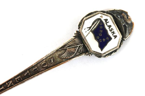 Alaska Flag Enamel Souvenir Collector Spoon
