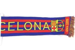 Barcelona FC Soccer Knitted Bar Jacquard Scarf Since 1899 Officially Licensed