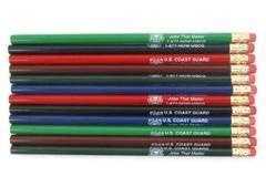 One Dozen Assorted Color Pencils Advertising The U.S. Coast Guard