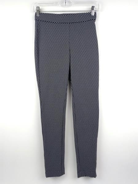 THEORY Black / White Check ADBELLE K Claymont Stretch Legging Pant Sz P / SMALL