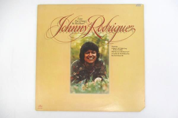 """Johnny Rodriguez """"Love Put A Song In My Heart"""" 1975 12"""" Vinyl 33 RPM LP Record"""