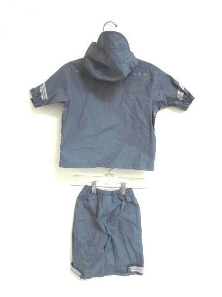Set Of Rain Gear REI Greyish-Blue Easy Fasten Coat And Bottoms Youth Size 12 MOS