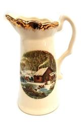 """CURRIER & IVES A Home in the Wilderness Pitcher Creamer 6"""""""