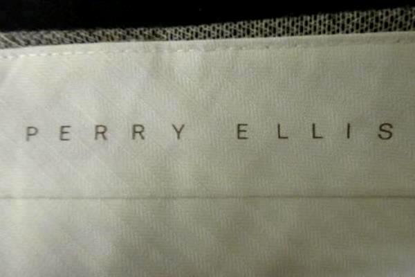 Men's Dress Pants By Perry Ellis Grey w/ Black Spots Original Fit Size 36/30