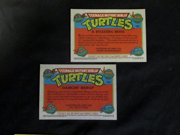 Lot Of 2nd Series Teenage Mutant Ninja Turtle Cards And TMNT Sticker Cards