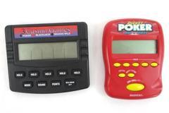 Set of 2 Electronic Games RTSI Radica Poker Blackjack Deuces Pocket Poker