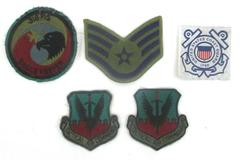 Lot of 5 Patches Various Services 2 Tactical Air Comand 1 Coast Guard 1790, Wing