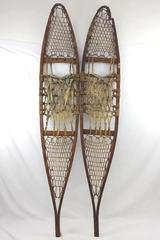 "Vintage Snocraft, Inc Wood & Rawhide Snowshoes 10"" x 56"" Decorative Primitive"