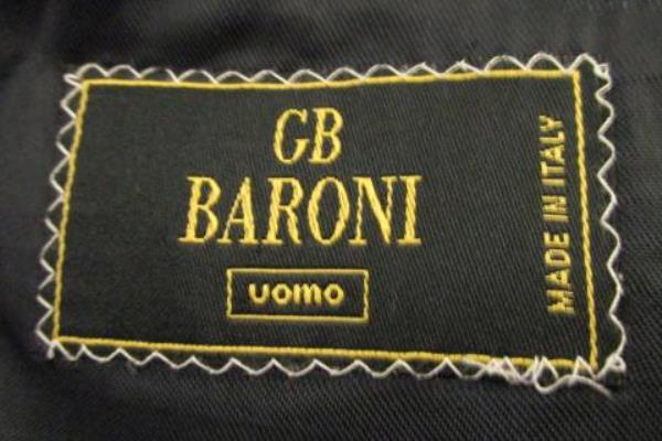 Lot of Two Jacket Bottom Suit Set GB Baroni Navy Blue 100% Wool Men's Size 44L