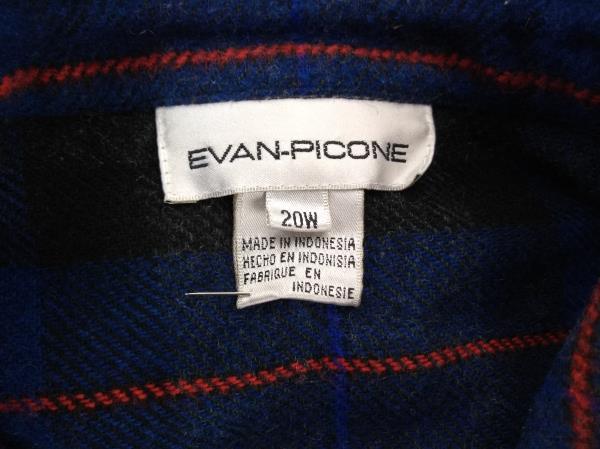 Vtg 90's EVAN PICONE Plaid Shirt Jacket Snap Down Wool Blend Women's Plus 20W