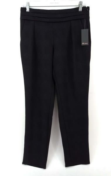 """ELLA MOSS """"Serena"""" Pant Black Textured Crepe Slim Leg Sz XS NWT $178"""