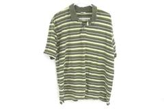 Columbia XCO Striped Polo Green Yellow White Button Up Men's Size Large