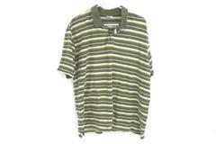 Columbia XCO Striped Polo Green Yellow White Button Up Men's Size Large