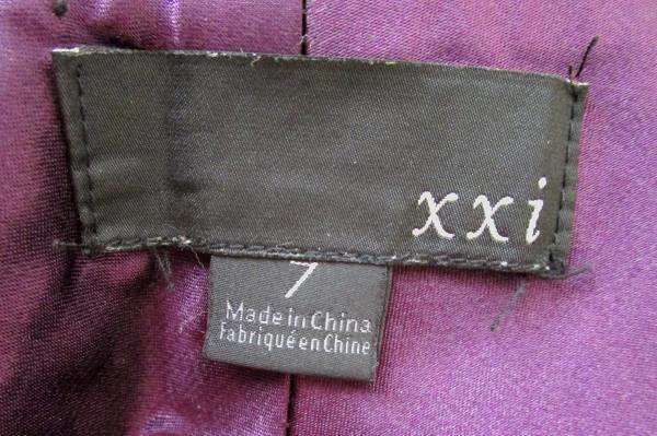 Women's Black Silver Pinstripe Bootcut Dress Pants By XXi Size 7
