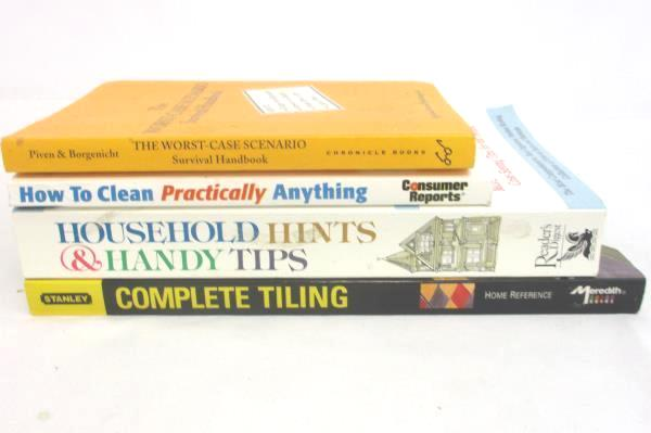 Lot of 4 How To Books: Worst-Case Scenario House-Hold Hints Handy Tips Tiling
