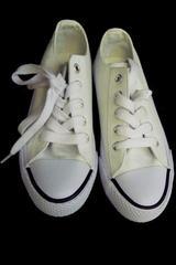 Air Walk Legacee White Lace-Up Girls Boys Shoe Size 13
