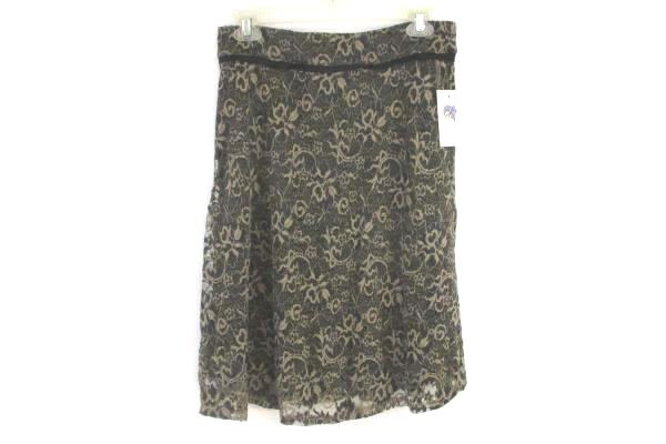 Lily Skirt Women's Size Large Style 2388 Lace Taupe Elastic Waist w/ Tags