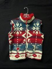 "Sweater Vest Great Northwest ""Indigo"" Fuzzy Christmas Pattern Men's Size Small"