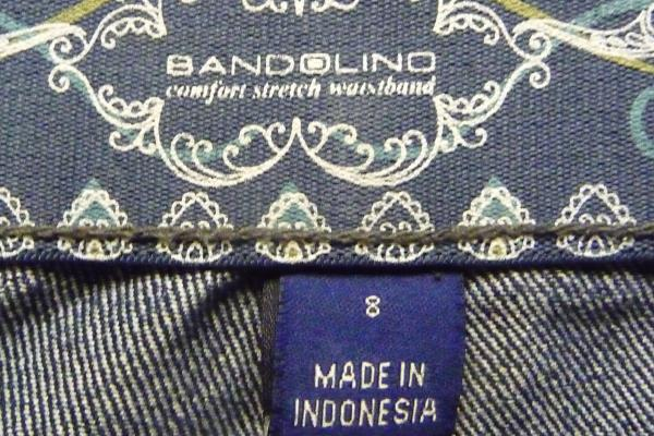 Bandolino Womens Jeans Sz 8 Missy Comfort Stretch Waistband Dark Wash Straight