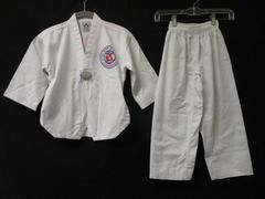 Martial Arts Uniform Set W/Belt Best Sang Moo Sa White Cotton Blend Youth Sz 00