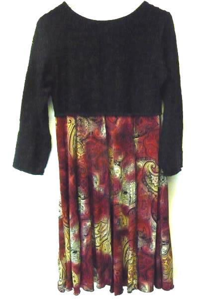 Hand Jive Wearable Art To Wear Women's Dress Long Sleeve Boho Chic Size Small